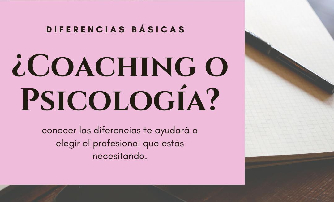 Diferencias básicas entre el Coaching y la Psicología